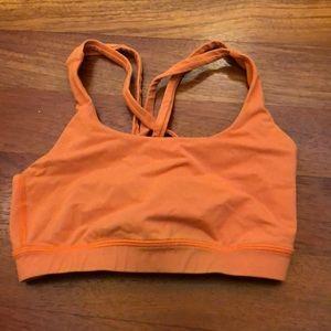 Lululemon energy bra size 4 orange